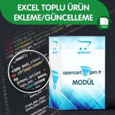 Mir Excel Toplu Ürün Ekleme/Güncelleme Modülü Opencart  versiyon V2X ve V3X uyumlu