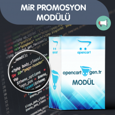 Mir Promosyon Modülü - Opencart versiyon 2x -3x Uyumlu